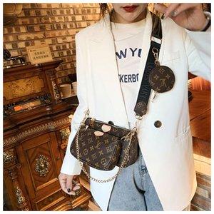 Libre de marca con el envío de mano del embrague 3piece establecer mochila bolso de los bolsos de hombro MensajeroNUNCA LLENOLouisVuittonLV