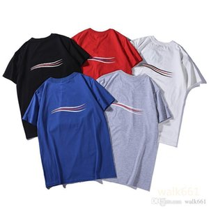 New 19SS Luxury Mens Designer T Shirt High Quality Men Women Couples Casual Short Sleeve Mens Round Neck Tees 5 Colors