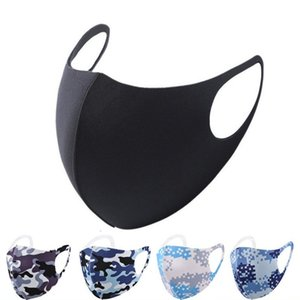 camouflage Face Mask Anti Dust Cover PM2.5 Respirator Dustproof Anti-bacterial Washable Reusable Ice Silk Cotton Masks Adult Children MK46