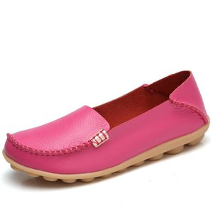 с коробкой MORAZORA Handmade дамы матери плоские туфли из мягкой кожи женщин Мокасины Туфли летние женские вождения обувь 20 цветов большого размера