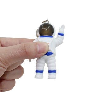 Cartoon Cute Astronaut Doll LED Lights Music Keychains Women Girls Charm Bags key chain Accessories Pendant Car New Key ring
