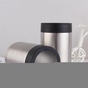 12 onças Tumbler aço inoxidável caneca de cerveja pode dobrar Vacuum parede isolada Fria refrigerador Cup Viagem Cola Caneca LJJA3445-3