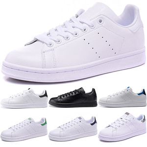 Scarpe da uomo originali Stan Scarpe da donna Smith Nero Bianco Blu Rosso Moda Boy Girl Flats in pelle Designer Trainer Sneakers Taglia 36-44