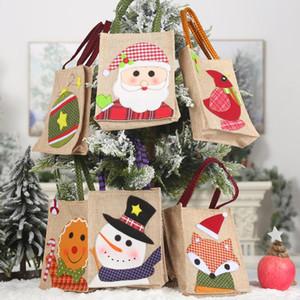 Presente di nuovo anno a pacchetto Cartoon Natale regalo ricamato di Santa Borse Christma Candy Bag Exquisite Decorazioni di Natale Per la casa