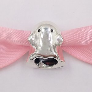 Auténticos 925 granos de la plata abucheo el fantasma encanto encantos se adapta al estilo europeo joyería de Pandora collar de las pulseras 798340EN16