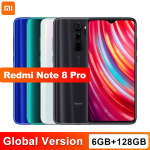 Global Version Xiaomi Redmi Note 8 Pro 6GB 128GB Mobile Phone 64MP Quad Camera MTK Helio G90T Smartphone 4500mAh NFC