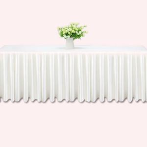 3m tabla de la boda faldas blanco hielo seda mesa de la boda falda de tela decoración