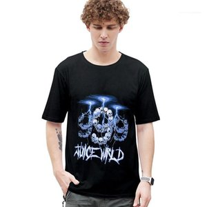 Neck Loose Tees Juice Wrld Designer Casual Tshirt Summer Men Women Fashion Short Sleeve Crew