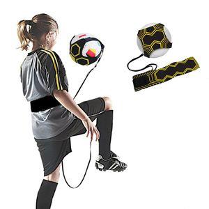 Haute qualité Football Coup de formation Ceinture de football Sport Entraîneur sangle réglable swing Bandage balle pratique Assistance équipement
