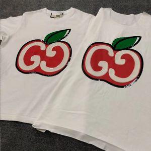 Frauen-T-Shirt der beiläufige 2020 Sommer-Kurzschluss-Hülsen-Äpfel T-Shirt Mode Luxus Frauen-Qualitäts-T-Shirt Cloth