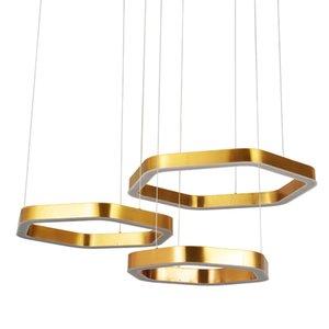 moderno lampadario in acciaio inox hanglamp LED AC110V 220V casa oro decorazione e luce negozio