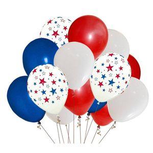 12-дюймовый цветной шар Independence Американский флаг Национальный день США 4 июля Solid Color Star Latex Декоративный шар 100 шт