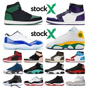 JUMPMAN Basketball LOW WMNS CONCORD 11 11s Shoes New Playground 13 Flint 13s Womens Mens 1 1s Travis Scott 2019 Bred High Sneakers