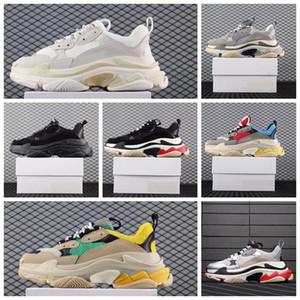 2020 أحذية الرجال مصمم الثلاثي S لرجل إمرأة حذاء رياضة أزواج 17FW الرجال الاحذية المدربين الأحذية الأزياء أبي عارضة زيادة حذاء رياضة