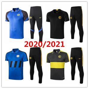 2020 2021 camisa dos homens polo Inter de Milão Camisa Lautaro treino de futebol 20 21 camisa do treinamento Lukaku Sensi Eriksen ternos de futebol de manga curta