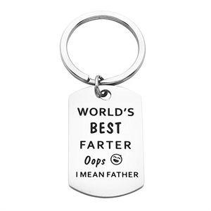 Babalar Hediye Anahtarlık Dünyanın En İyi Farter Hiç Oops I Mean Baba Baba Anne Anahtarlık Titanyum Çelik Anahtarlık Aile Takı Baba Anahtarlık