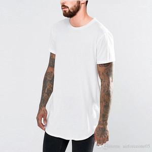 Camiseta de los hombres Negro Blanco Larga Tees Manga corta curvada palangre Tees 19SS verano nuevo