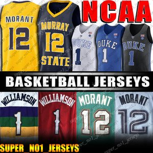 NCAA 12 Ja Morant Jersey jerseys Sion 1 0 Williamson Coby blanca RJ Barrett Cameron rojizo Duke Escuela de Baloncesto jerseys de los diablos azules