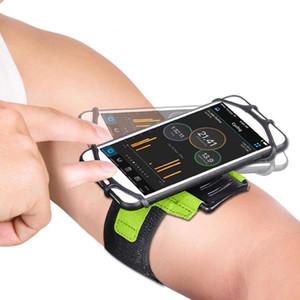 Phone Armband Sports Armband حامل تجريب الهاتف لتشغيل الركض في الهواء الطلق الأزرق والأسود والأخضر والوردي