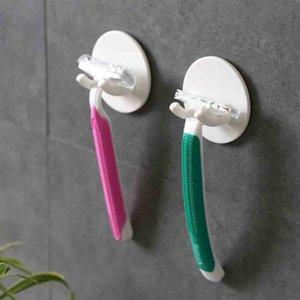Mutfak Banyo # 10 için 3PC Güç Plug Yapışkan Kanca Traceless Güçlü Yapıştırıcı Plastik Askı Elektrikli Aletler Tel Tak Tutucu