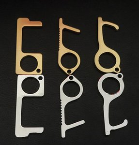 Бесконтактный EDC дверной замок ключ Лифт Кнопка Открытый Ручка двери Сенсорный экран Кнопка Closer инструмент Ручка двери Открытие Петля Крюк GGA3380-1