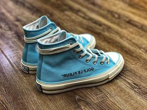 남성 Conve GOLF le FLEUR 척 70 캔버스 신발 여성 캐주얼 안녕 Burlap Blue 1970 년대 캠프 Flog Gnaw 스니커즈 디자이너 트레이너