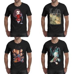 Moda Erkek baskı Korn-Zombi-Çirkin-Logo t shirt siyah Kişiselleştirilmiş Bant Gömlek Amerikan Korn-Karikatür-Logo Korn-Takip-Lider