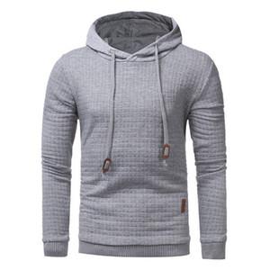 Hoodies degli uomini 2017 di marca maschile manica lunga colore solido Felpa con cappuccio Mens Hoodie Tuta sudore cappotto casual sportivo M-3XL