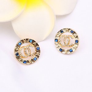 New designer luxury earing fashion color inlay zircon hollow circle earrings popular retro earrings female temperament