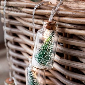 Tree Glass Jar Bottle String with 20 LED Battery operated for Wedding Party Fairy Lights Christmas Deocration Y200603