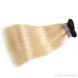 2018 New Arrival ProductsT1B 613 Blonde Hair 4Bundles Straight Brazilian Human Hair Extension 10inch To 26inch Remy Peruvian Hair Weave