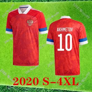 Большой размер 4XL 2020 России по футболу футбол Джерси 20 21 Россия Главная # 22 Дзюба # 17 Головин # 10 АХМЕТОВ маек