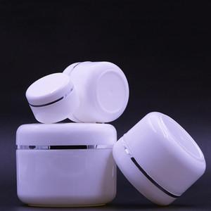 Boş Krem Şişeleri PP BPA Ücretsiz Yuvarlak Kavanoz Şişe Kozmetik Yüz Kremi Losyon Alt Şişeler ile Beyaz iç kapak