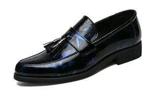 2018 pelle degli uomini di alta qualità degli uomini dei fannulloni scarpe vintage nappa Mens di cuoio scivolare su scarpe Mocassino Homme Delocrd uomini scarpe da sera