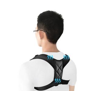 Ajustable clavícula corrector de la postura Hombres Mujeres superior del apoyo trasero del hombro Soporte lumbar Correa del corsé de la postura corrección de bandas de DHL
