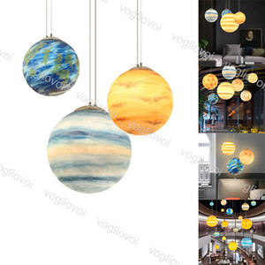 Lámparas colgantes Universo creativo nórdico Planeta Acrílico Luz Luna Sun Earth Marte Urano Mercury Júpiter Saturn Decoration DHL