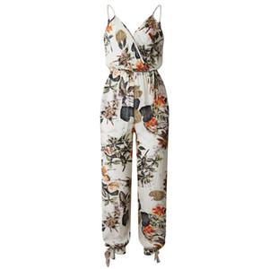 Sexy Overalls Für Frauen Langarm Body Suits V-Ausschnitt Baggy Wide Leg Stilvolle Slim Strampler Overalls Weibliche Spielanzüge