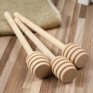 15 cm Rührer aus Holz Honey Spoon Stick für Honey Jar Long Handle Rührstab Honey Dipper Party Supply SN1097