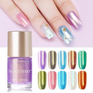 NICOLE DIARY Pearl Series Nail Polish 9ml Water Based Nail Art Lacquer Varnish Manicure Polish 10 Colors