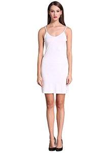 Damen Long Spaghetti Strap Cami Active Basic Unterhemd Slip Dress