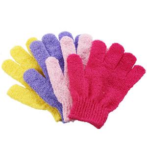 Großhandel Feuchtigkeitsspendende Spa Hautpflege Tuch Bad Handschuh Fünf Finger Peeling Handschuhe Gesicht Körper Baden Zubehör