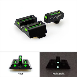 FTODSP táctico de fibra óptica delantera y trasera roja / visores de punto verde caza Mira telescópica de visión nocturna