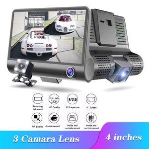 Neue 3-Kamera-Auto-DVR 4-Zoll-IPS-Schlag-Nocken-Drei-Wege-High-Speed-Full HD 1080P Driving DVRs Doppelobjektiv Spezielle Recorder für Reisen