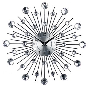 Eco-Friendly Metal Art Wall Clock Роскошные Алмазные Большие Настенные Часы Orologio Da Parete Clock Morden Design Home Decor Wandklok