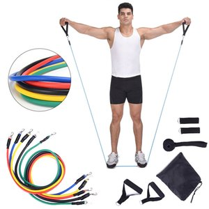 11pcs set Latex Resistance Bands Workout Pulling Rope Exercise Pilates Yoga Crossfit Fitness Rubber Loop Indoor Sports Training GH067