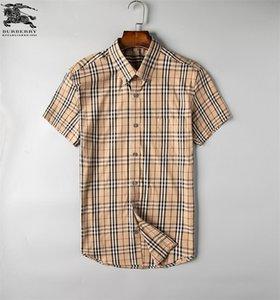 رجال الأعمال عارضة قميص 2019Men الرجال شريطية طويلة الأكمام سليم صالح صحي الاجتماعي قميص منقوش الموضة للرجال # G5