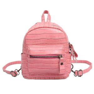 미니 배낭 핫 판매 여성 여행 가방 도난 방지 스톤 새로운 여성의 도난 방지 배낭 패션 여자 가방 # LR3 인쇄하기