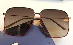 Nuevo diseñador de moda gafas de sol 0394 s marco cuadrado de metal estilo popular simple uv 400 gafas de protección al aire libre para hombres y mujeres