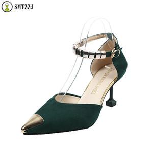 SMTZZJ 2019 Sexy Clássico de Salto Alto Sandálias das Mulheres Sapatos de Verão Senhoras Strappy Pumps Plataforma Saltos Mulher Tornozelo Strap Shoes