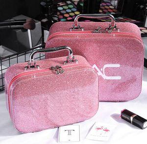 Famosa M Marca composição cosmética do saco Bolsas portátil PU Women Make Up armazenamento caso saco de viagem Wash Bolsa 6 Cores Big Small Size Atacado